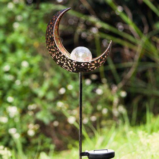 lampe solaire lune extérieur