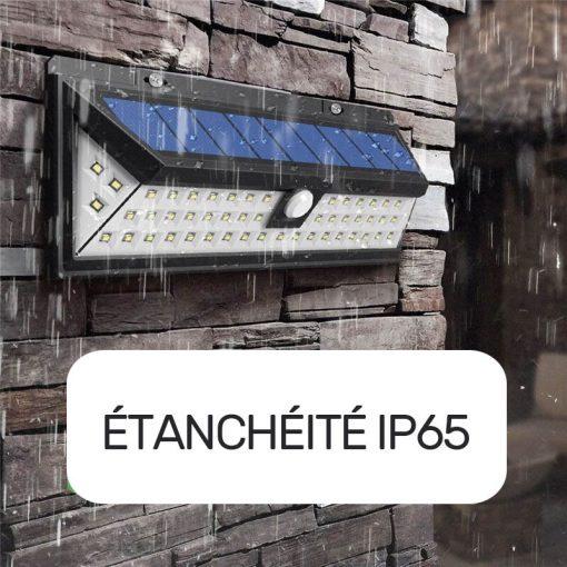 Applique murale solaire avec détecteur de mouvement étanche