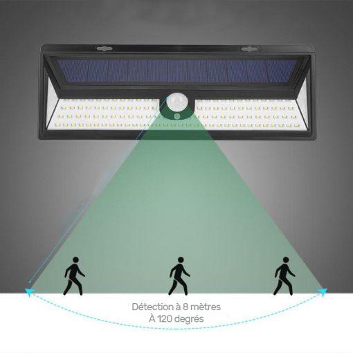 Applique murale solaire avec détecteur de mouvement extérieur