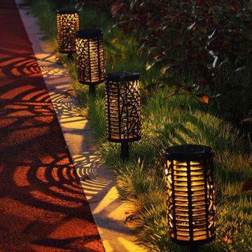 Lampe solaire extérieur couleur changeante pour allée