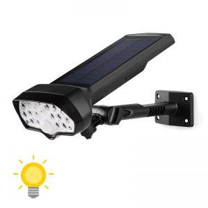 Lampe solaire murale à détecteur de mouvement