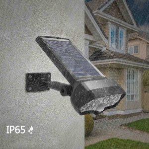 Lampe solaire murale à détecteur de mouvement étanche