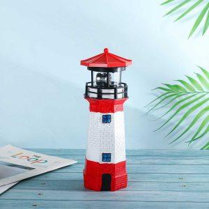 joli phare solaire de jardin