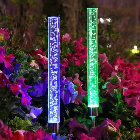 choisir lampe solaire décorative avec changement de couleur