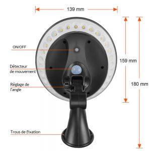 lampe solaire 360 degrés caractéristiques