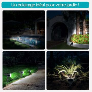 lampe solaire a piquer jardin