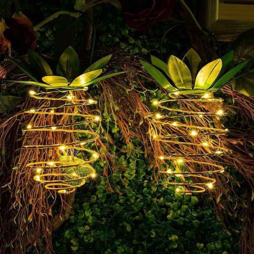 lampe solaire ananas led