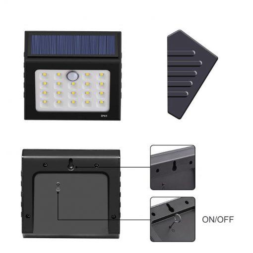 lampe solaire avec capteur de mouvement pas cher