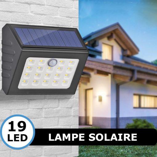 lampe solaire avec capteur de mouvement led