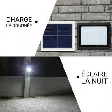 lampe solaire avec panneau déporté jardin