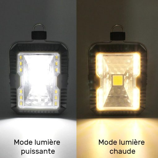 lampe solaire camping puissante