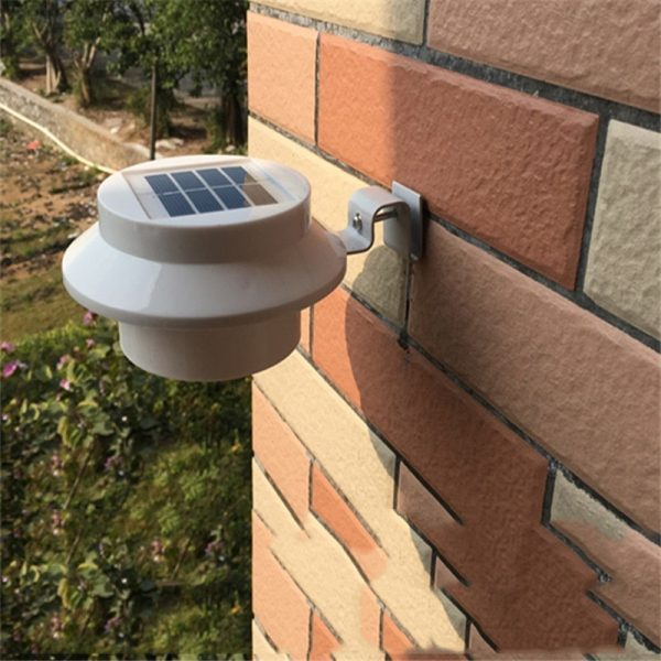 lampe solaire gouttiere blanche