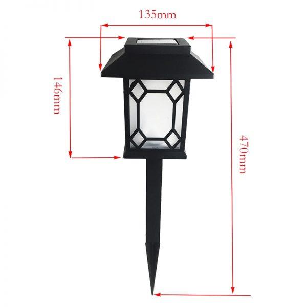 lampe solaire de jardin dimensions