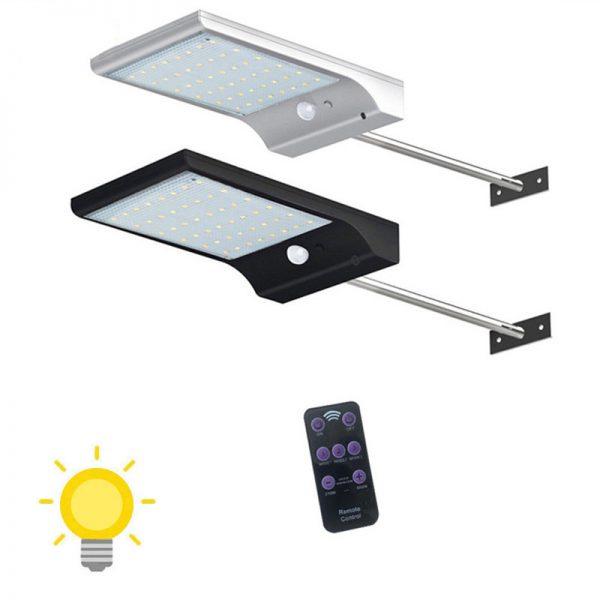 Lampe solaire extérieur avec télécommande
