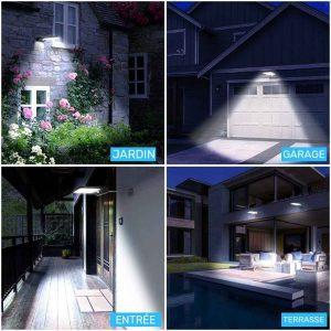 Lampe solaire extérieur avec télécommande jardin