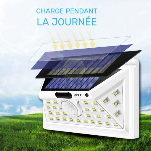 lampe solaire exterieur blanche étanche