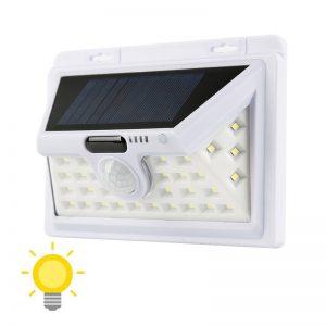 lampe solaire extérieur blanche