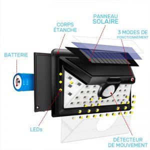 lampe solaire exterieur blanche led