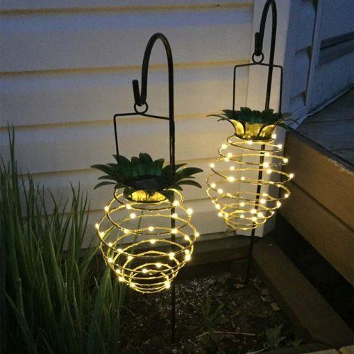 lampe solaire en forme d'ananas