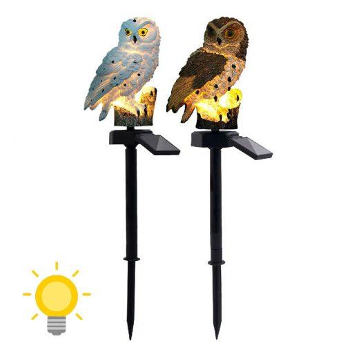 lampe solaire hibou