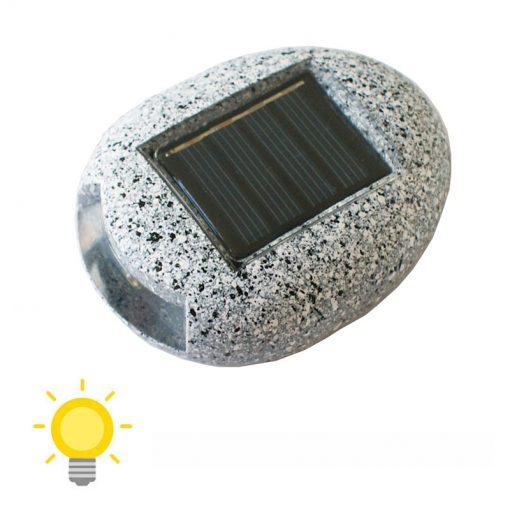 lampe solaire imitation pierre