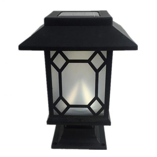 lampe solaire de jardin noir