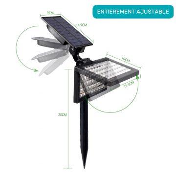 Lampe solaire jardin à planter extérieur