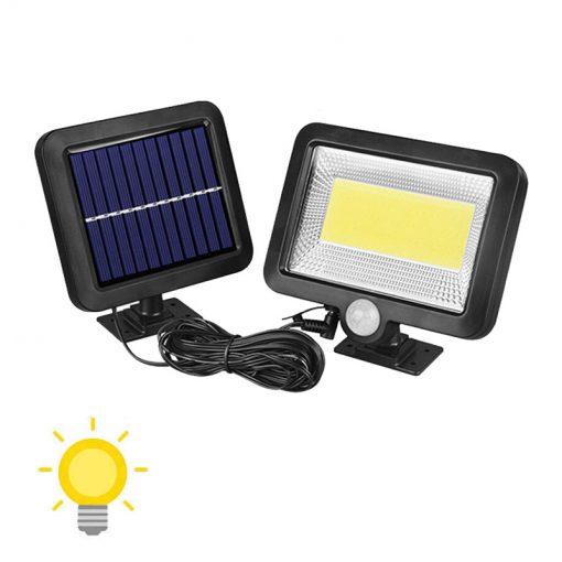 lampe led solaire pour jardin avec panneau déporté
