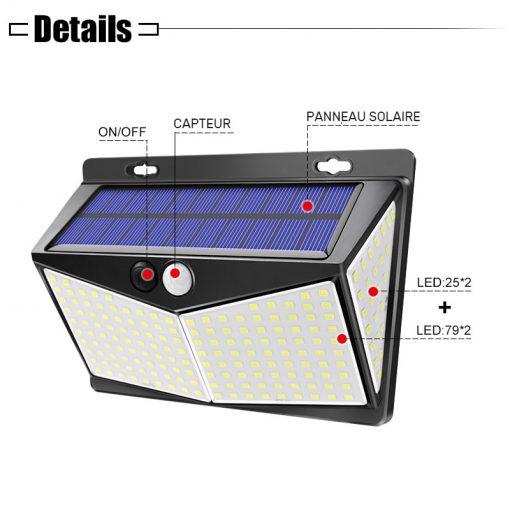 lampe solaire led pour mur exterieur