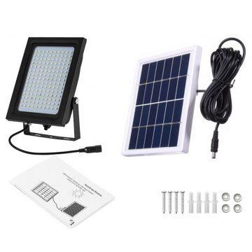 lampe solaire avec panneau déporté extérieur