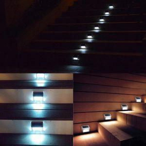 lampe solaire pour marche escalier extérieur