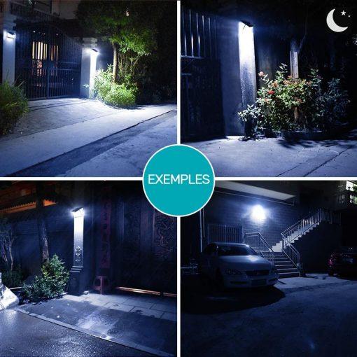 lampe solaire pour mur exterieur avec detecteur de mouvement