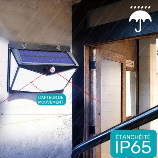 lampe solaire pour mur exterieur étanche