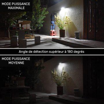 lampe solaire rectangulaire détection