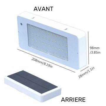 lampe solaire rectangulaire dimensions