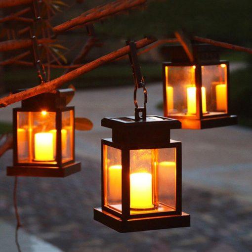 Lanterne solaire effet flamme pas cher