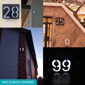 numéro maison exterieur solaire