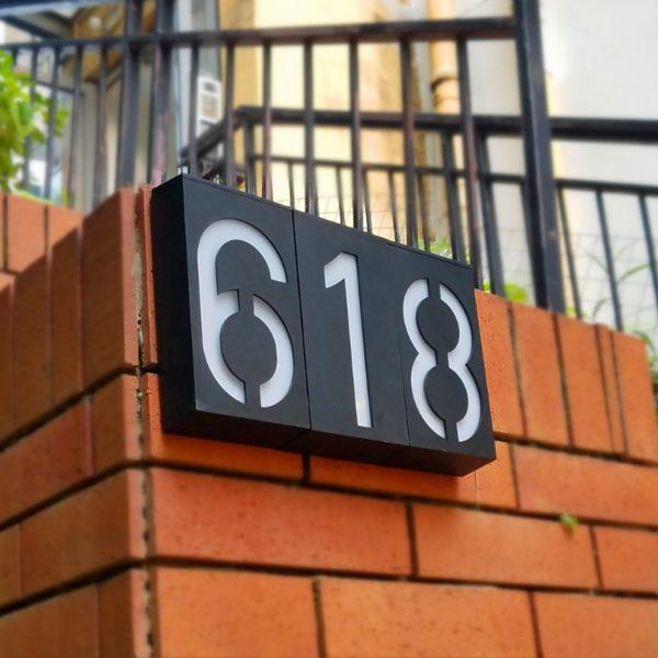 numéro de maison lumineux solaire led