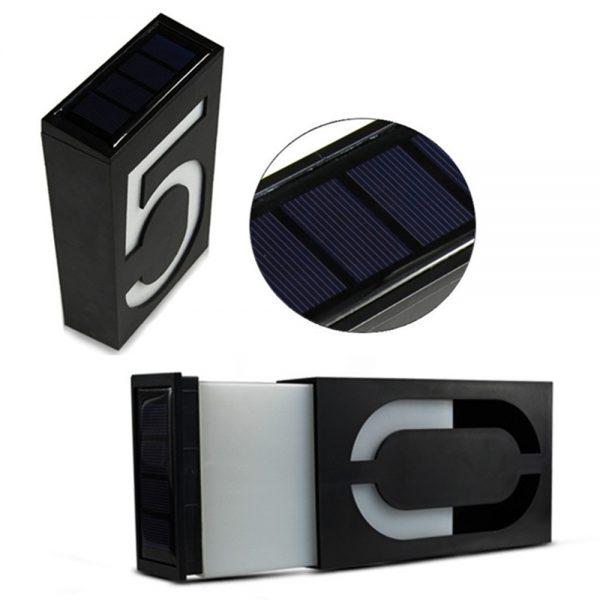numéro de maison lumineux solaire éclairage