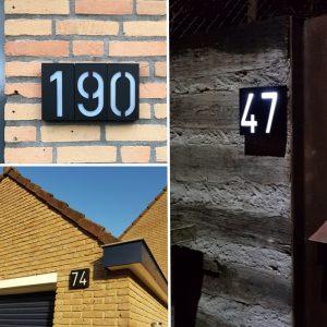 numéro de maison lumineux solaire etanche