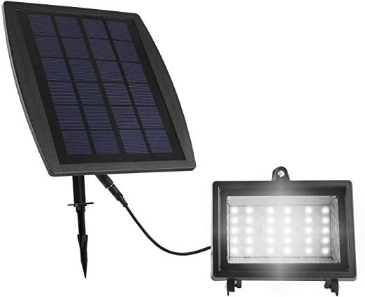 choisir lampe solaire avec panneau déporté pour jardin