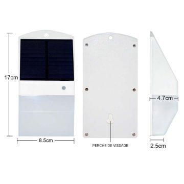 Petite applique solaire extérieur