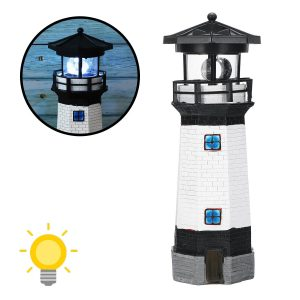 phare solaire de jardin