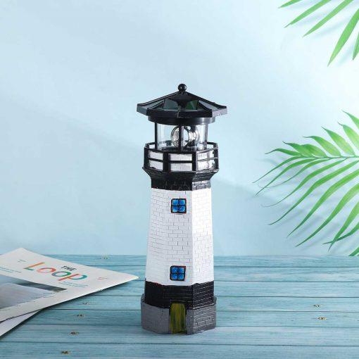 phare solaire de jardin eclairage