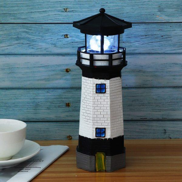 phare solaire de jardin table