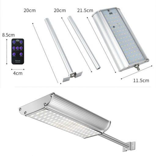 Projecteur solaire puissant avec telecommande dimensions