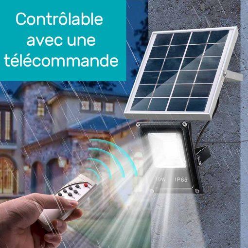 Projecteur solaire 1000 lm avec télécommande