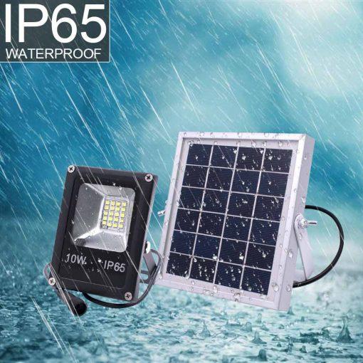 Projecteur solaire 1000 lumens avec télécommande etanche