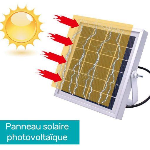 Projecteur solaire 1000 lumens avec télécommande pas cher