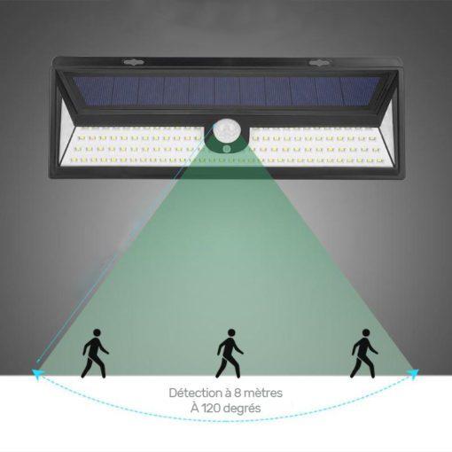 avantage éclairage solaire : détecteur de mouvement